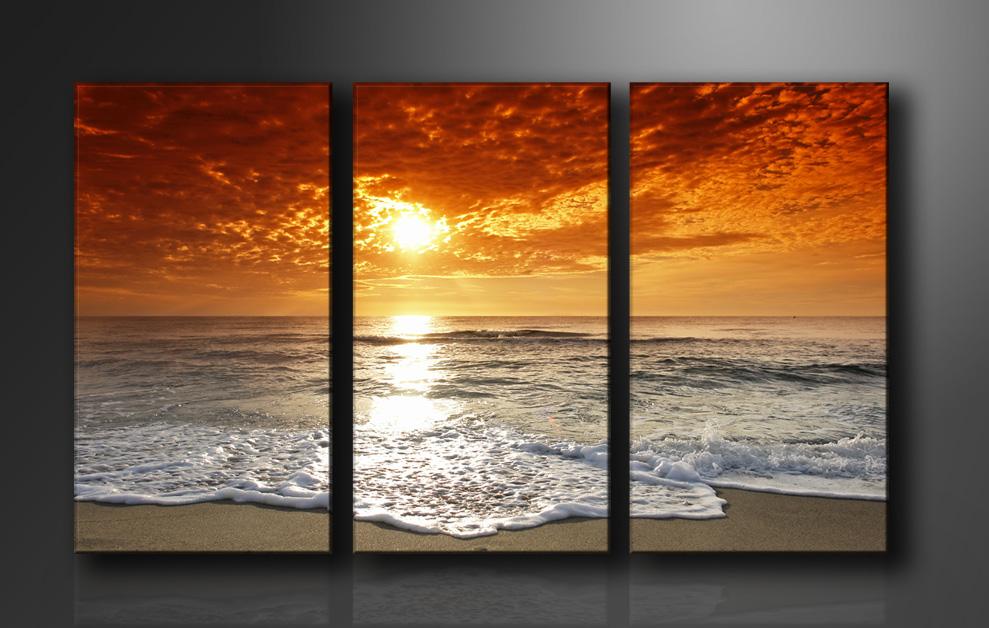bilder bild leinwand auf rahmen strand 160cm xxl 3 1038 ebay. Black Bedroom Furniture Sets. Home Design Ideas