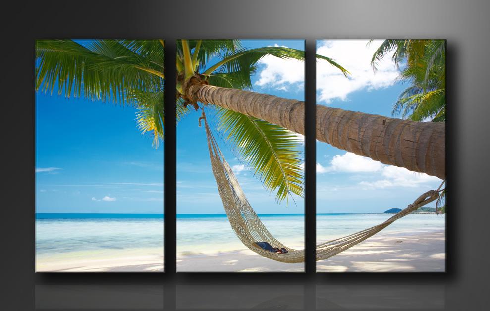 leinwand bilder fert gerahmt strand 160cm xxl 3 1039. Black Bedroom Furniture Sets. Home Design Ideas