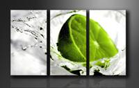 Leinwand Bild fert gerahmt Lime grün 160cm XXL 3 1131