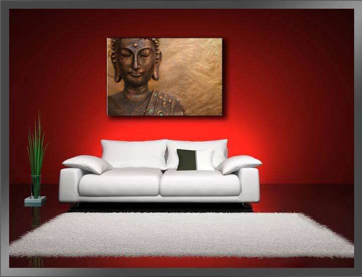leinwand bilder fert gerahmt buddha 80cm xxl 3 4041 ebay. Black Bedroom Furniture Sets. Home Design Ideas