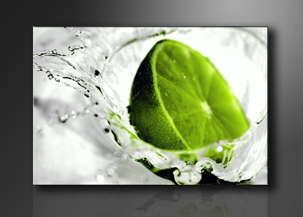 Leinwandbilder modern lime gr n 80cm xxl 3 4131 - Moderne leinwandbilder ...