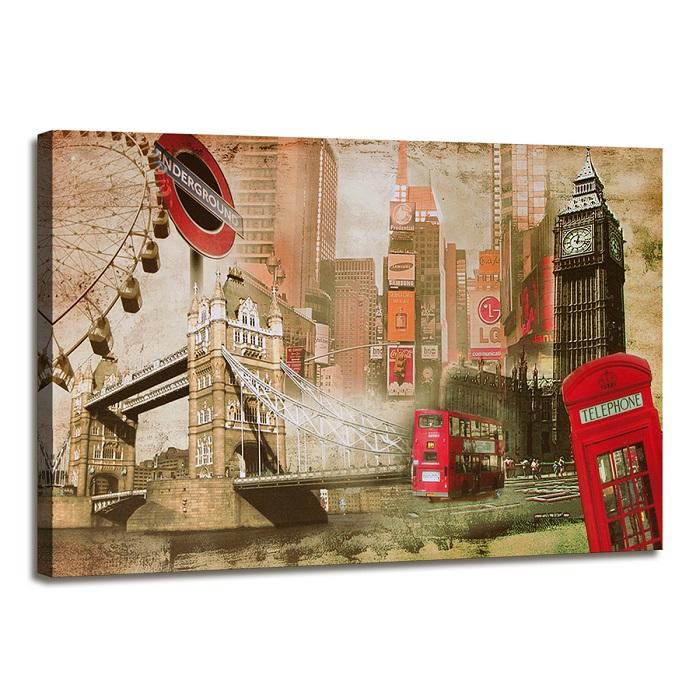 bild marken bilder leinwand auf rahmen london 120cm xxl 3 5176 ebay. Black Bedroom Furniture Sets. Home Design Ideas