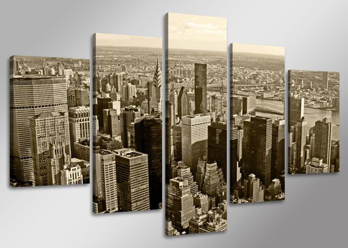 leinwand bild fert gerahmt new york skyline 160cm xxl 5 5514. Black Bedroom Furniture Sets. Home Design Ideas