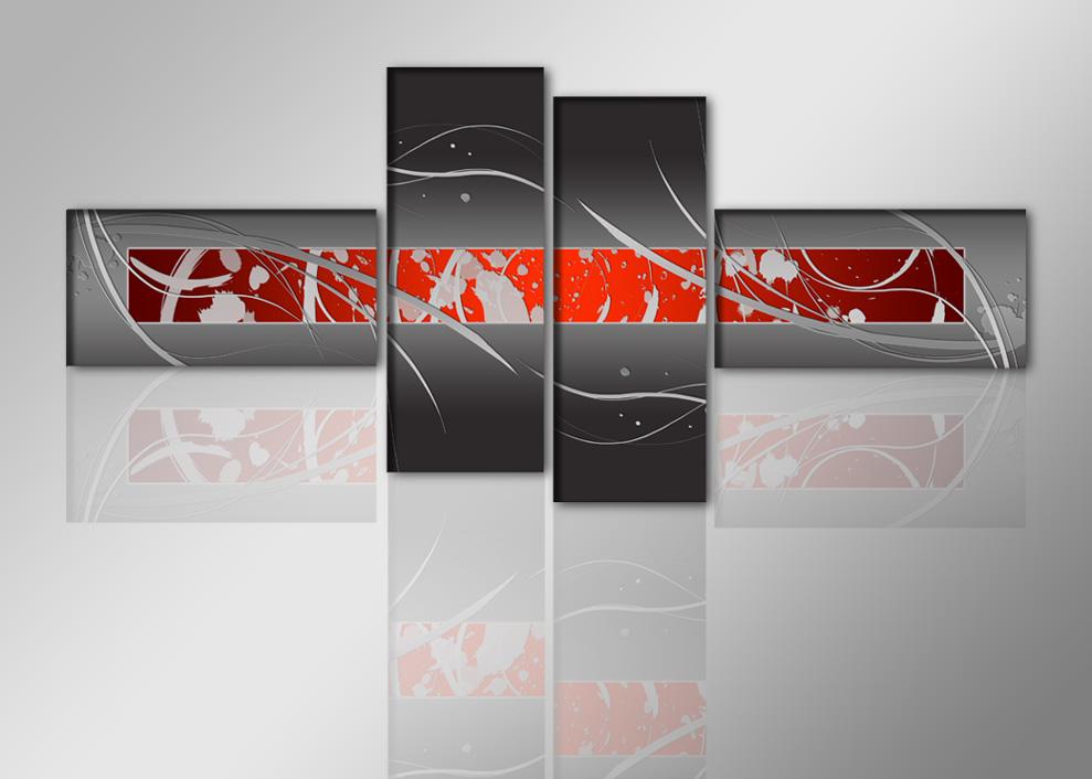 leinwand bilder alle gerahmt moderne sch ne r ume 195 cm xxl 4 6803. Black Bedroom Furniture Sets. Home Design Ideas