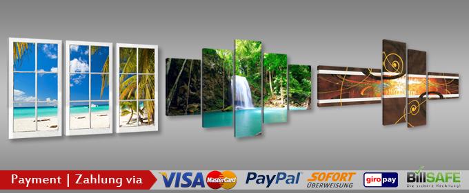 Bilder auf leinwand gro e auswahl schnellversand kostenfrei ab 14 90 - Dreiteilige bilder auf leinwand ...