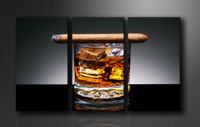 "Pictures on canvas length length 63"" height 35"" Nr 1004 whiskey"