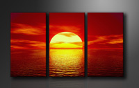 "Pictures on canvas length length 63"" height 35"" Nr 1094 sunset"