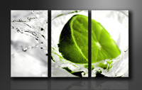 "Pictures on canvas length length 63"" height 35"" Nr 1131 lime"