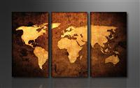 "Pictures on canvas length length 63"" height 35"" Nr 1162 map"