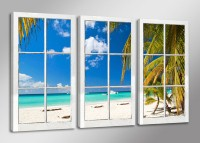 "Pictures on canvas length length 63"" height 35"" Nr 1164 window with view"