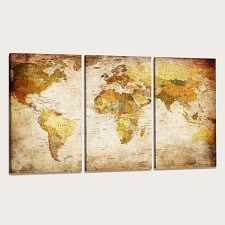 "Pictures on canvas length length 63"" height 35"" Nr 1166 map"