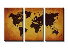 Leinwand Bild fert gerahmt Weltkarte 160cm XXL 3 1170