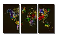 Leinwand Bild fert gerahmt Weltkarte 160cm XXL 3 1171