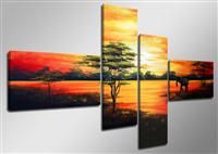 "hand painted picture nature length 63"" height 27 No. 2001"