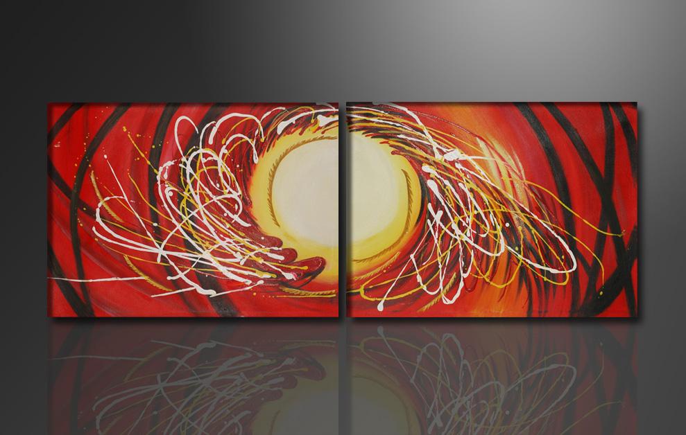 leinwand bild fert gerahmt abstrakt 165cm xxl 3 2041. Black Bedroom Furniture Sets. Home Design Ideas
