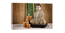 "LED picture lenght 23,5"" height 15,7""  candles buddha"