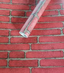 Deko Folie selbstklebend Ziegel rot 3011