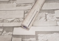 Tapete Folie selbstklebend Naturstein hell weiß 3012