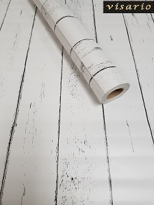 Deko  Folie selbstklebend Holz Bretter weiß Paneel Strandhaus 3021