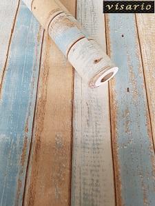 Deko  selbstklebend Holz Bretter Streifen Paneel Strandhaus 3022