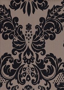 Deko  Folie selbstklebend Ranke schwarz weiß Vintage 3031