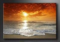 Leinwand Bilder fert gerahmt Strand 80cm XXL 3 4038