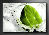 Leinwand Bild fert gerahmt Lime grün 80cm XXL 3 4131