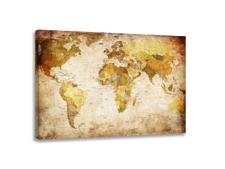 Leinwand Bild fert gerahmt Weltkarte 80cm XXL 3 4139