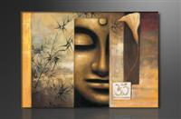 Leinwand Bild fert gerahmt Buddha 80cm XXL 3 4157