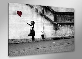 Leinwand Bild Banksy fert. gerahmt 80x60 cm  4165