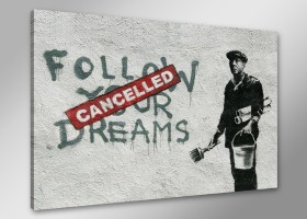 Leinwand Bild Banksy fert. gerahmt 80x60 cm  4167