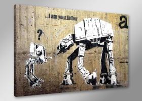 Leinwand Bild Banksy fert. gerahmt 80x60 cm  4168