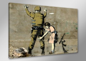 Leinwand Bild Banksy fert. gerahmt 80x60 cm  4169