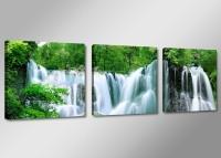 Leinwand Bild fert gerahmt Wasserfall 150cm XXL 3 4212