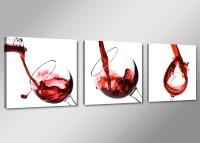 Leinwand Bild fert gerahmt Wein Küche 150cm XXL 3 4219