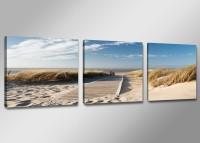 Leinwand Bild fert gerahmt Nordsee Ostsee 150cm XXL 3 4221
