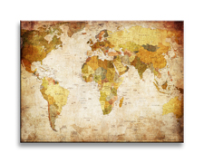 """Picture on canvas length length 15.7"""" height 11.8"""" Nr 4302 Worldmap"""