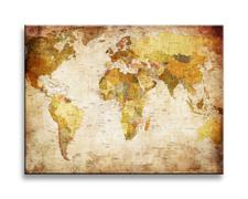 Leinwand Bild fert gerahmt Weltkarte 40cm XXL 1 4302