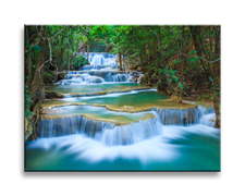 Leinwand Bild fert gerahmt Wasserfall 40cm XXL 1 4304
