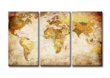 Leinwand Bild fert gerahmt Weltkarte 120 x 80 cm XXL 3 4401