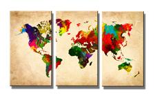 Leinwand Bild fert gerahmt Weltkarte 120 x 80 cm XXL 3 4402