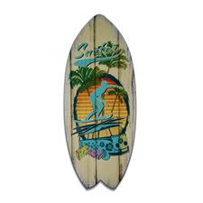 Deko Surfboard Surfer 60x25 cm  4501