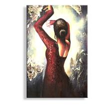 Bild Flamenco fertig gerahmt Bild 120x80cm XXL 5002
