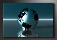 Welt Bilder fertig gerahmt Bild 120x80cm XXL 5012