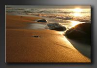 Strand Bilder fertig gerahmt Bild 120x80cm XXL 5035