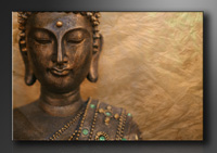 Buddha Bilder fertig gerahmt Bild 120x80cm XXL 5041