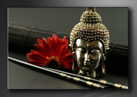 Buddha Bilder fertig gerahmt Bild 120x80cm XXL 5043