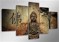 "Pictures on canvas length length 63"" height 31"" Nr 5502 Buddha"