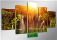 "Pictures on canvas length length 63"" height 31"" Nr 5503 waterfall"