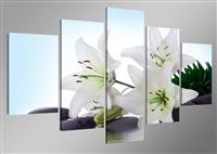 "Pictures on canvas length length 63"" height 31"" Nr 5504 flowers"